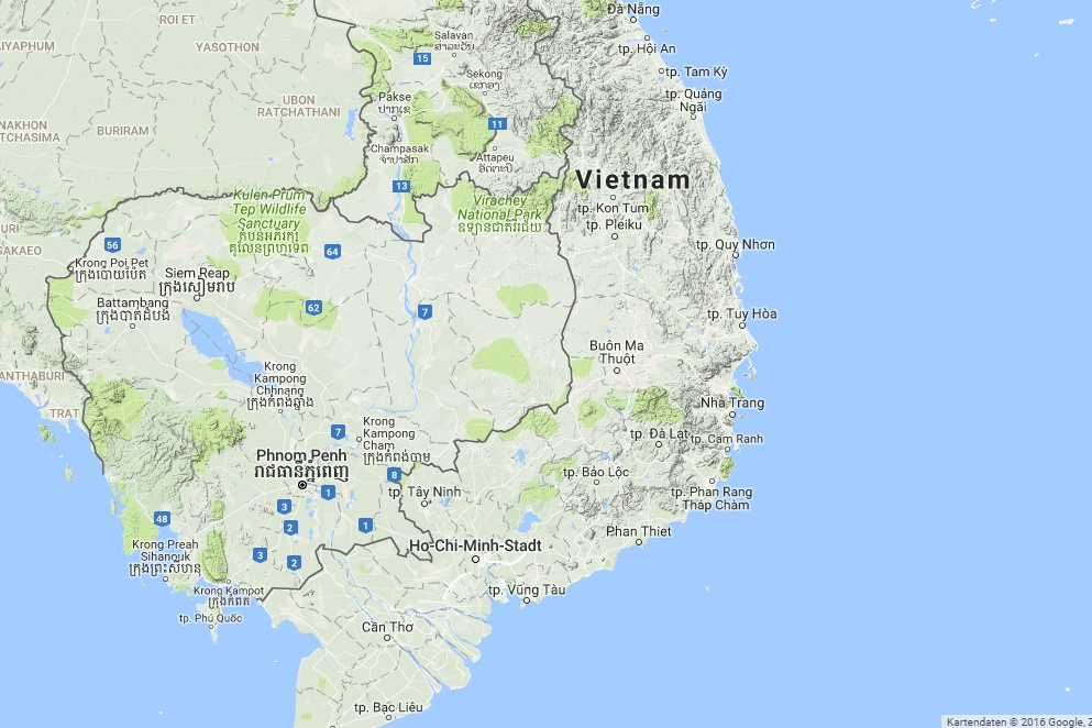 Interactive map Vietnam