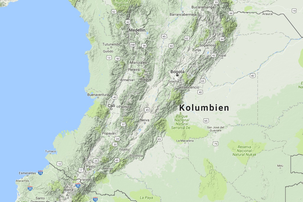 Interactive map Colombia