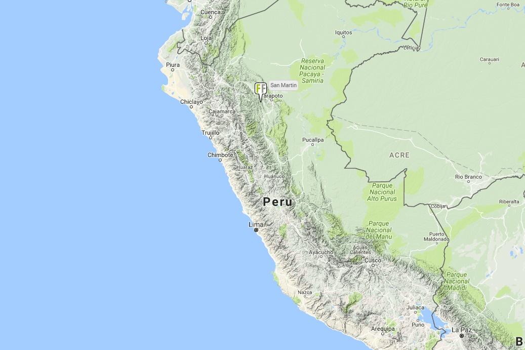 Interactive map Peru
