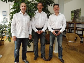 Harry Assenmacher, Olaf van Meegen and Dirk Walterspacher